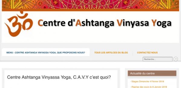 Centre d'Ashtanga Vinyasa Yoga : Changement de notre adresse internet….