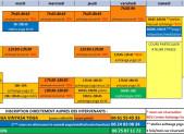 planning 2019-2020 Tarifs et inscription auprés des intervenants directement