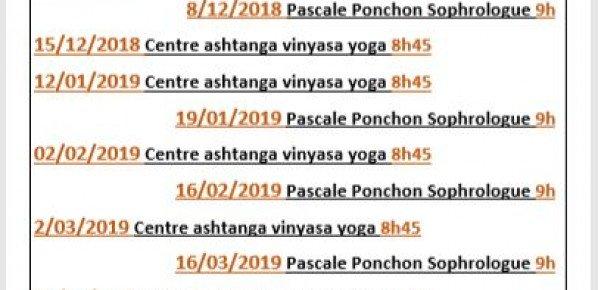 Dates des ateliers du samedi matin pour les cours mensuels