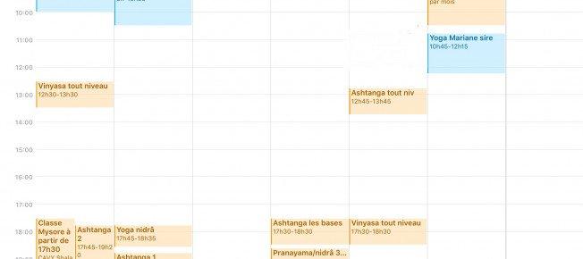Planning de la deuxième semaine des congés